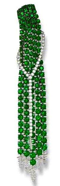 Tsavorite Garnet and Diamond Earrings Carnet Christie's