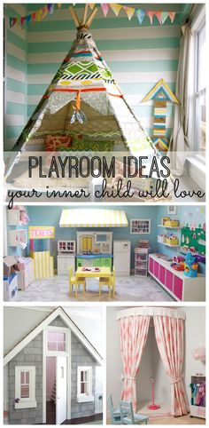 These 16 awesome playroom ideas will make you feel like a kid again. From DIY and art ideas to how to convert a nursery or bedroom into a playroom, your kids wi