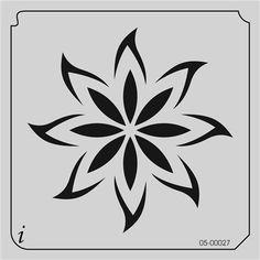 Resultado de imagen para plantilla stencil flor