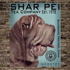 Shar Pei Tea CompanyPrint 16x20See last photo by BarkArtPortraits