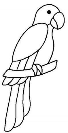 Trendy craft animal coloring pages – Tiere Art Drawings For Kids, Bird Drawings, Drawing For Kids, Animal Drawings, Easy Drawings, Drawing Sketches, Drawing Ideas, Drawing Drawing, Stained Glass Birds