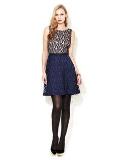 Fit And Flare Lace Dress by Gemma Crus on Gilt.com
