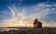 Holland MI Lighthouse. Full Panoramic photo on my Facebook page.