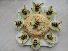 Food decoration - - food art - - Kochen - Home Cute Food, Good Food, Yummy Food, Food Carving, Food Garnishes, Garnishing, Cooking Recipes, Healthy Recipes, Snacks Für Party