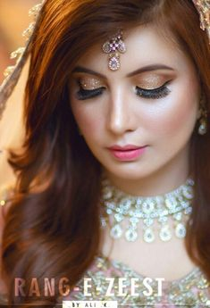 Ghanu💗 Beautiful Bridal Makeup, Best Bridal Makeup, Indian Bridal Makeup, Beautiful Bride, Bridal Hair, Engagement Hairstyles, Engagement Makeup, Bride Hairstyles, Indian Bridal Outfits
