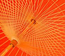 I ❤ COLOR NARANJA ❤ Orange umbrella