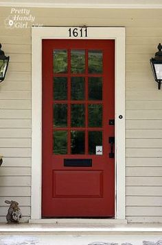 Sherwin Williams Crabby Apple Pretty Handy Girl for entry door color?