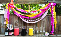 Mimosa bar: Set out a few bottles of sparkling wine or prosecco, and let guests mix up their own with juices like orange, grapefruit or blueberry. Top them off with fresh fruit slices or berries for an even tastier touch.