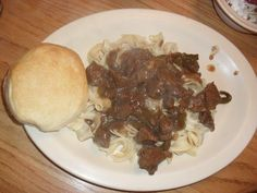 DEER TIPS & NOODLES(Venison)- this is so good!!! you don't even know its Deer Meat!