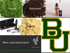 Show your team colors for the Baylor Bears! #Younique #MineralPIgments #3DFiberLashes #LucrativeLipGloss