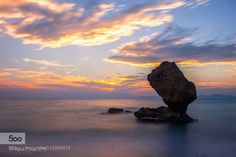 Nefertiti Rock by AnezaPalaiou  Clouds Colors Greece Greek islands Hellas Landscape Long exposure Rhodes Rocks Rodi Rodos Sea Seasca