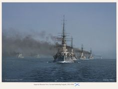 Imperial Russian Navy Second battleship brigade (Baltic Fleet) 1912-1914.