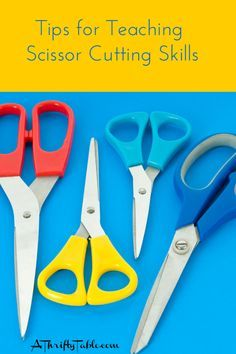 Tips for Teaching Kids to Use Scissors - Teaching a child how to cut with scissors can be incredibly scary. You'll want to help your child learn the basics of scissor cutting. If your child is interested in cutting, then now may be a good time to start this process. Here are some tips to helping your child with this new stage in life.
