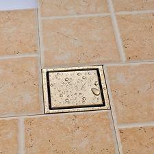 Square Floor Drain Nickel Brushed Bathroom Shower Drain Strainer Floor  Drainer