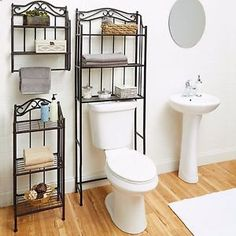 Attractive Bathroom Cabinet Over The Toilet Storage Rack Space Saver Shelf Organizer  Bronze | EBay Where Can