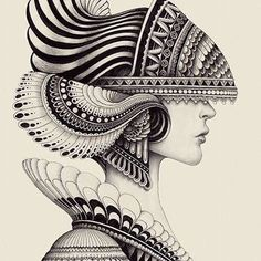 "felixinclusis: "" beautifulbizarremagazine: Amazing drawing by Iain Macarthur "" Doodle Art Drawing, Zentangle Drawings, Mandala Drawing, Mandala Sketch, Art Drawings Beautiful, Cool Art Drawings, Art Drawings Sketches, Mandala Art Lesson, Mandala Artwork"