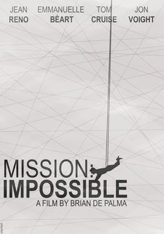 Mission Impossible (1996) - Minimal Movie Poster by Stenfelt #minimalmovieposters #alternativemovieposters #fanart
