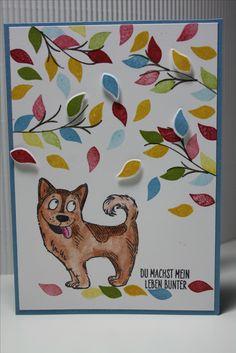 Grußkarte mit Hund von Katzelkraft