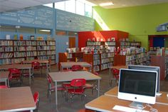 I want my library to have fun bright colors like this one. I think Target designed this one.