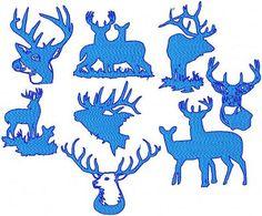 Deer Various 9 designs