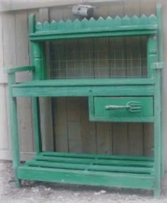 Wood Creations :: Potting Table in green image by sangaree_KS - Photobucket