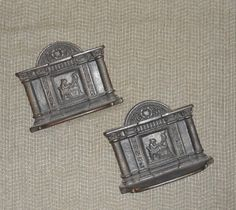 VINTAGE c1920s to 1940s Cast Iron BOOKENDS / Possibly by BYGONERA