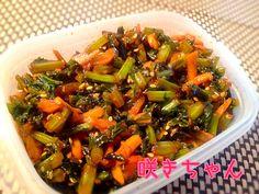 ご飯に合う〜😚かぶの葉のピリ辛常備菜🔥