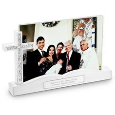 Personalized Cross Float Frame , Add Your Message