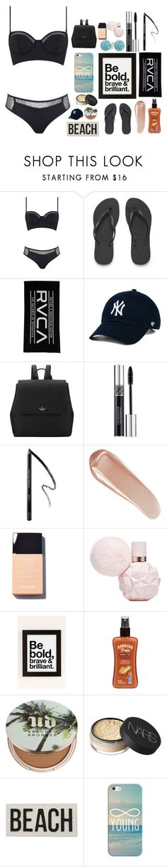 """""""~Hot Day~"""" by adele-ioannou ❤ liked on Polyvore featuring Kendall + Kylie, Havaianas, RVCA, Kate Spade, Christian Dior, NARS Cosmetics, AngelStar Forever, Hawaiian Tropic, Urban Decay and HomArt"""