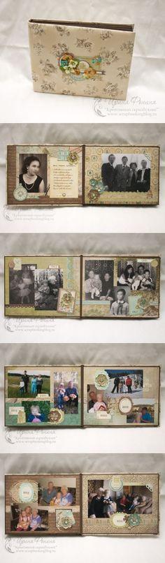 Семейный альбом в подарок бабушке на 90 лет - Креативный скрапбукинг