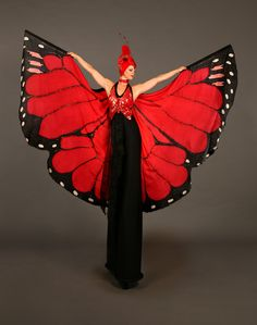 Dream - Various Stilt Walkers   London  UK - Mariposa Butterfly Stiltwalker