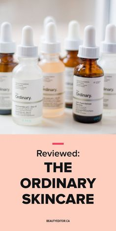 The Ordinary skincar