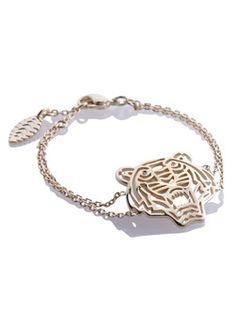 Kenzo Gouden schakelarmband tijger