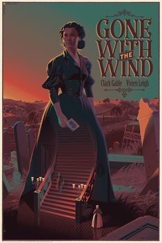 Laurent-Durieux-Gone-With-The-Wind-Movie-Poster-Variant-Dark-Hall-Mansion-2017.jpg (1067×1600)