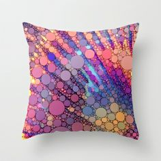 bubbles Throw #Pillow by Sylvia Cook Photography - $20.00 #abstract #pattern #homedecor