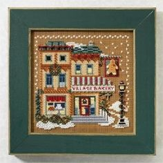 "MH147306 - Village Bakery (2007)  Christmas Village Series - Mill Hill - Buttons and Bead Kits - Winter Series Kit Includes: Beads, ceramic buttons, perforated paper, needles, floss, chart and instructions. Mill Hill frame GBFRM3 sold separately Size: 5"" x 5"""
