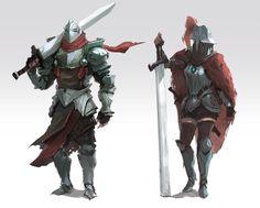 Knights, Dylan Scher on ArtStation at https://www.artstation.com/artwork/knights-ed51470e-e29b-4703-87ca-5ee482e679a4