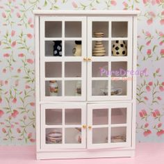 Miniature Kitchen Dining Room Furniture Cabinet Display Shelf 1:12 Dollhouse