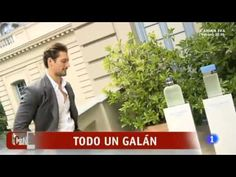David Gandy talks with 'Corazón, Corazón' during the Dolce Light Blue Launch in Madrid