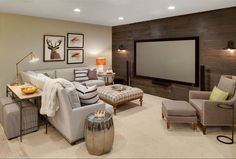 8 der coolsten Keller-Hangouts By Bryan Anthony, Houzz Whether it's adding tiered seating for the ultimate viewing experience or building a second kitchen to draw a crowd, there have bee – Heimkino Systemdienste Basement Makeover, Basement Renovations, Home Remodeling, Basement Designs, Basement Decorating Ideas, Small Basement Design, Cool Basement Ideas, Small Basement Remodel, Living Room Renovation Ideas