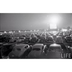 Late 1940's drive in movies
