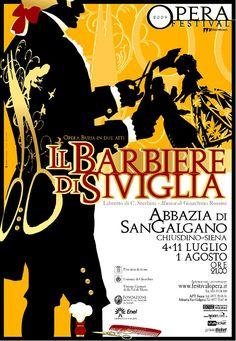 Emo Risaliti Lyric Opera Poster- Il Barbiere Di Siviglia
