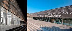 Carré Léon Gaumont • Sainte Maxime, France • Night & Day I Textile facade realized with printed Serge Ferrari composite mesh
