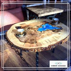 This is Awesome Resin Wood Table Project 53 image, you can read and see another amazing image ideas Wood Resin Table, Epoxy Resin Table, Wood Desk, Wood Table, Resin Furniture, Log Furniture, Design Tisch, Got Wood, Wood Slab
