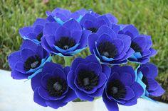 Crepe Paper Anemone flowers Anemone Flowers by FlowerBazaar, $72.00