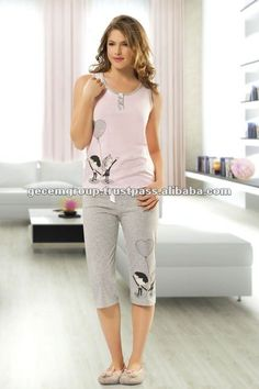 Night Suit For Girl, Girls Night Dress, Sexy Night Dress, Night Dress For Women, Pants For Women, Clothes For Women, Cute Lounge Outfits, Lazy Day Outfits, Pijamas Women