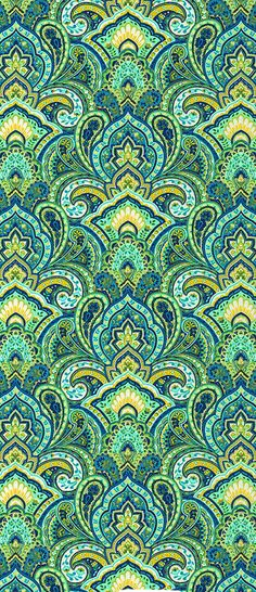 quenalbertini: Green and yellow design Paisley Pattern, Pattern Art, Pattern Design, Green Pattern, Paisley Print, Textile Patterns, Textile Design, Motif Oriental, Hippie Art