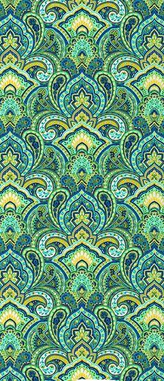 Sea colors paisley