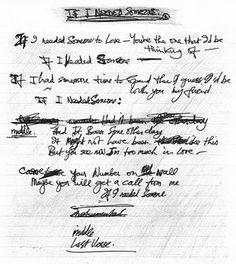 """If I Needed Someone"" George's handwritten lyrics Beatles Quotes, Beatles Lyrics, John Lennon Beatles, The Beatles, Musica Popular, Lennon And Mccartney, Heart Songs, Need Someone, He Day"