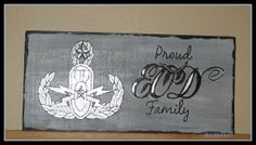 Proud EOD family with MASTER EOD badge sign by CreationsbyGena, $20.00